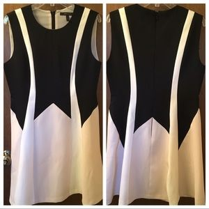 AZRIA COLOR BLOCKED DRESS